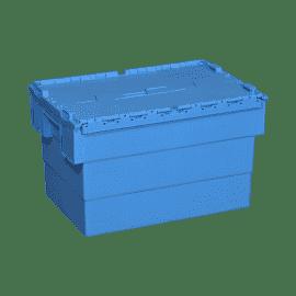 Bac isotherme hermétique en plastique bleu, d'un volume utile de 13 ou 32 litres et adapté aux transports de produits médicaux thermosensibles.
